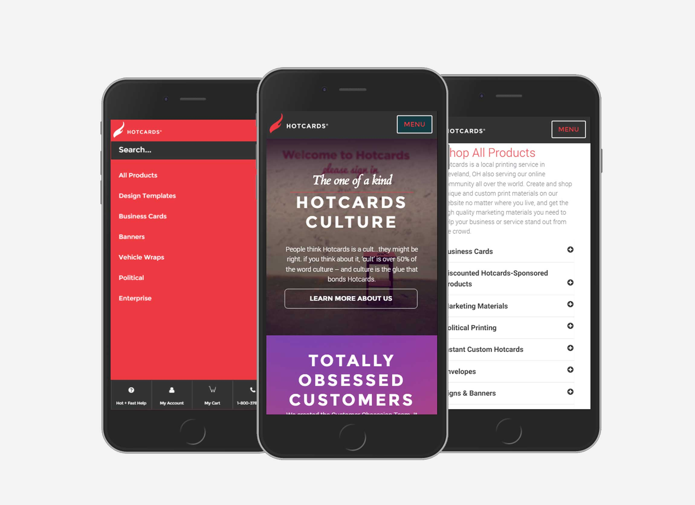 Hotcards Mobile Website